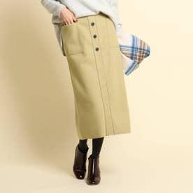 【XS~Lサイズあり・後ろウエストゴム】ストレートスカート (イエロー系)