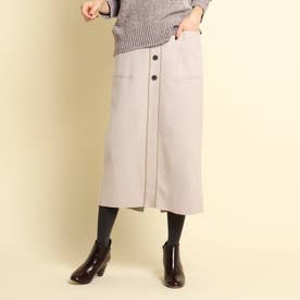 【XS~Lサイズあり・後ろウエストゴム】ストレートスカート (ライトベージュ)
