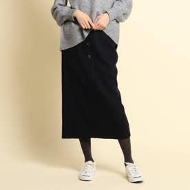 【XS~Lサイズあり・後ろウエストゴム】ストレートスカート (ネイビー)