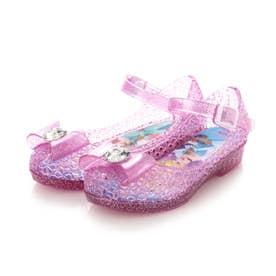 Disney7618 プリンセス 光る ガラスの靴 フラッシュサンダル アリエル シンデレラ ラプンツェル (PINK)