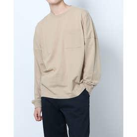 メンズ 長袖Tシャツ M長袖ヘビーウェイトBIGTシャツ DN-9C16031TL (ベージュ)