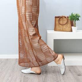 手編みミュールサンダル (WH)