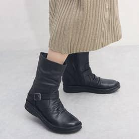 4E柔らかレザーブーツ (BL)