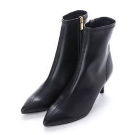 ポインテッドショートブーツ (ブラック)