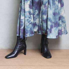 【Water Drops Series】スクエアトゥセットバックブーツ (ブラック)