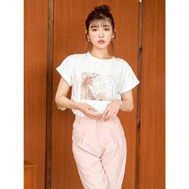 カラーペインティングTシャツ (ピンク)