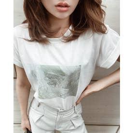 カラーペインティングTシャツ (サックス)