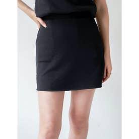 エンボスポイントスウェットスカート (ブラック)