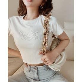 エンボスタイトTシャツ (ホワイト)