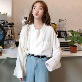 デザイン襟付シャツ (ホワイト)