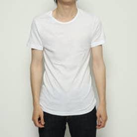 クルーネックシャツ/ヨーロピアンコットン (ホワイト)