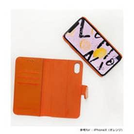 羊本革手帳型アイフォンケース2way  (オレンジ)