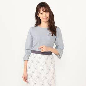 袖シアー刺繍プルオーバー (ミント)