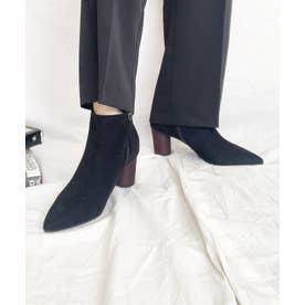 バイカラーショートブーツ (BLK)