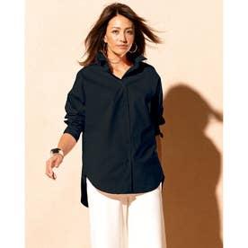 ビューティコットン・2WAYシャツ (ミッドナイトブルー)