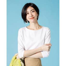 ドゥクラッセTシャツ・ボートネック7分袖/58cm丈 (ホワイト)
