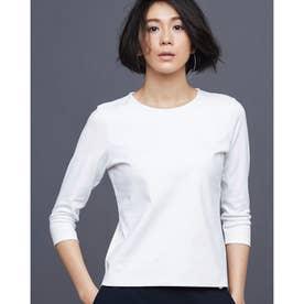 ドゥクラッセTシャツ・クルーネック7分袖 (ホワイト)