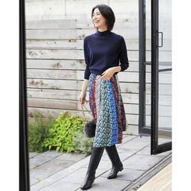 光沢ツイル・パネルプリントスカート (スモールパターン)