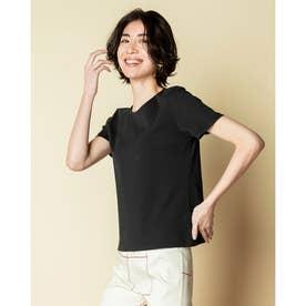 ボートネック/5分袖・ドゥクラッセTシャツ(58cm丈) (ブラック)