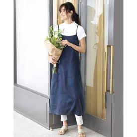 21番リネン・エプロンキャミドレス (ネイビー)
