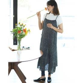 21番リネン・エプロンキャミドレス (ドット)
