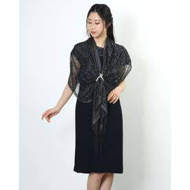 Doux archives ラメニットストール (BLK)