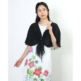 Doux archives リング付き3WAYストール (BLK)