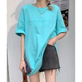 立体ロゴTシャツ (ブルー)
