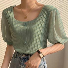 Tシャツ/カットソー (グリーン)