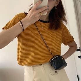 Tシャツ/カットソー (オレンジ)
