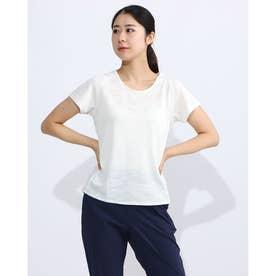 レディース フィットネス 半袖Tシャツ PANEL JACQUARD S/S DC70301