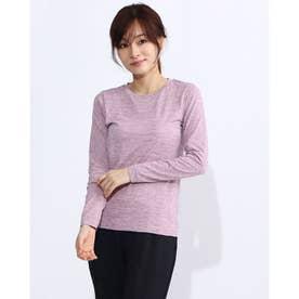 レディース フィットネス 長袖Tシャツ NON STRESS L/S TEE DA70104 (パープル)