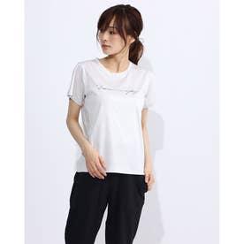 レディース フィットネス 半袖Tシャツ PRINT TEE DC70306 (グレー)