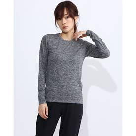 レディース フィットネス 長袖Tシャツ NON STRESS L/S TEE DA70104 (グレー)