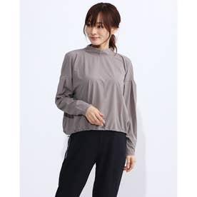 レディース フィットネス 長袖Tシャツ YOGI CLOTH FLARE T DC30309 (グレー)
