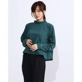 レディース フィットネス 長袖Tシャツ YOGI CLOTH FLARE T DC30309 (グリーン)