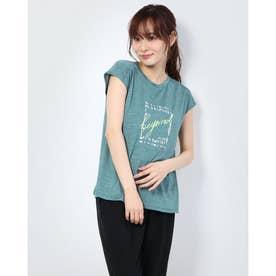 レディース フィットネス 半袖Tシャツ HEATHER GRAPHIC FR DC70303 (グリーン)