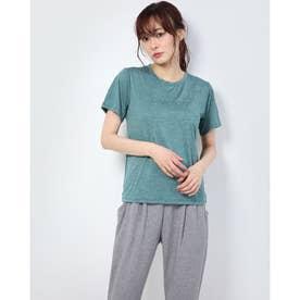 レディース フィットネス 半袖Tシャツ HEATHER LOGO TEE DC70302 (グリーン)