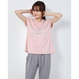 レディース フィットネス 半袖Tシャツ HEATHER GRAPHIC FR DC70303 (ピンク)