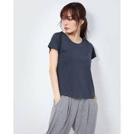 レディース フィットネス 半袖Tシャツ PANEL JACQUARD S/S DC70301 (ネイビー)
