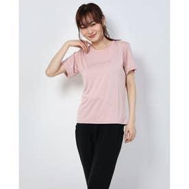 レディース フィットネス 半袖Tシャツ HEATHER LOGO TEE DC70302 (ピンク)