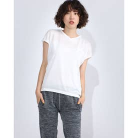 レディース フィットネス 半袖Tシャツ JACQUARD TEC TEE DC70240 (ホワイト)