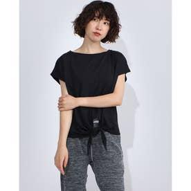 レディース フィットネス 半袖Tシャツ FRONT KNOT TEE DC70241 (ブラック)