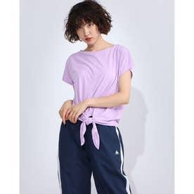 レディース フィットネス 半袖Tシャツ FRONT KNOT TEE DC70241 (ピンク)