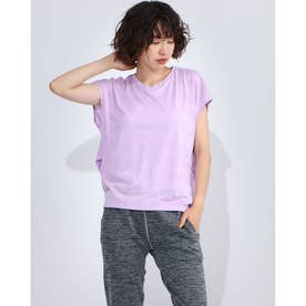 レディース フィットネス 半袖Tシャツ JACQUARD TEC TEE DC70240 (ピンク)