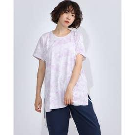 レディース フィットネス 半袖Tシャツ PRINT BIG TEE DC70242 (ピンク)