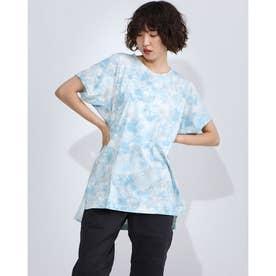 レディース フィットネス 半袖Tシャツ PRINT BIG TEE DC70242 (ブルー)