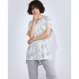 レディース フィットネス 半袖Tシャツ PRINT BIG TEE DC70242 (ホワイト)