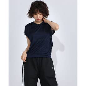 レディース フィットネス 半袖Tシャツ JACQUARD TEC TEE DC70240 (ブラック)