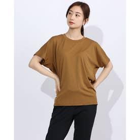 レディース フィットネス 半袖Tシャツ HIGH GAUGE S/S TEE DC70308 (ベージュ)